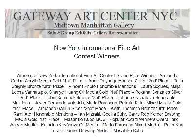Winners of New York International Fine Art Contest
