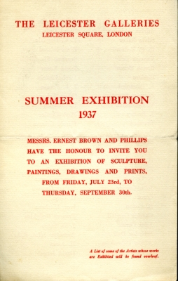 Summer Exhibition 1937
