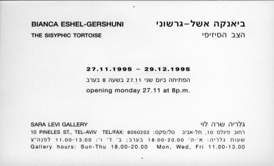 Bianca Eshel Gershuni - The Sisyphic Turtoise