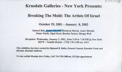 Breaking the Mold: The Artists of Israel