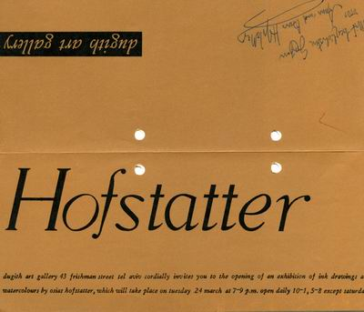 Osias Hofstatter - Solo Exhibition