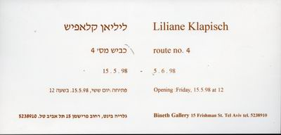 Liliane Klapisch - Route No. 4