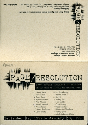 Rage/Resolution - From Family Violence to Healing
