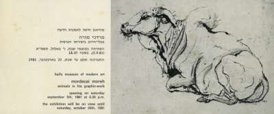 Mordechai Moreh: Animals in His Graphic-Work