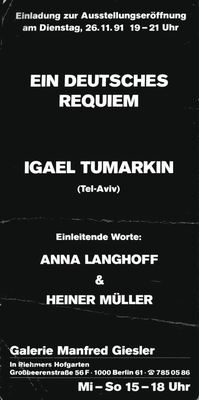 A German Requiem (Ein Deutsches Requiem)