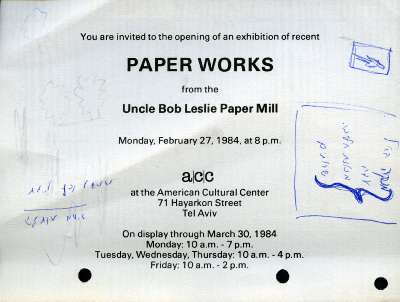 Paper Works from Uncle Bob Leslie Paper Mill