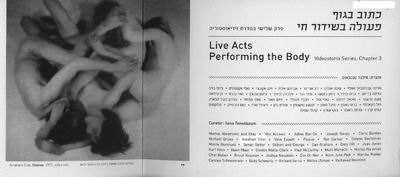 Live Acts- Performing the Body