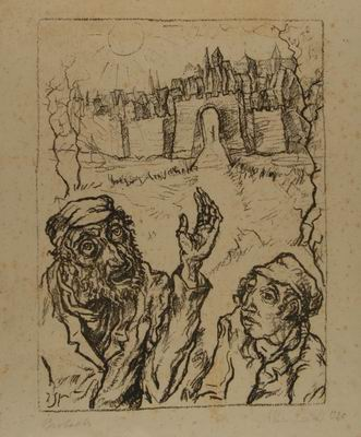 In the Days of the Messiah, illustration to Gleichnisse (Parables), by I. L. Perez, Gurlitt Verlag, Berlin, 1920