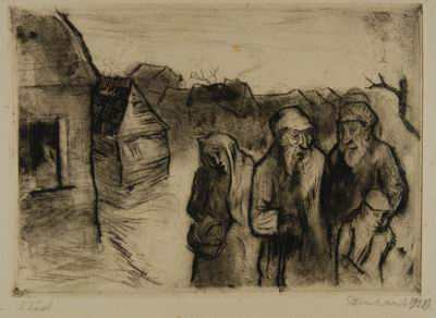 Jews in Front of a Village