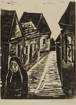 Village Street with Woman