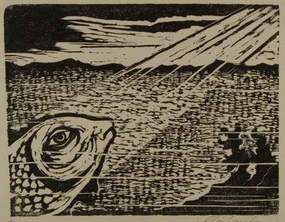 Fish, illustration to The Book of Jonah, Jewish Publication Society, Philadelphia, 1952