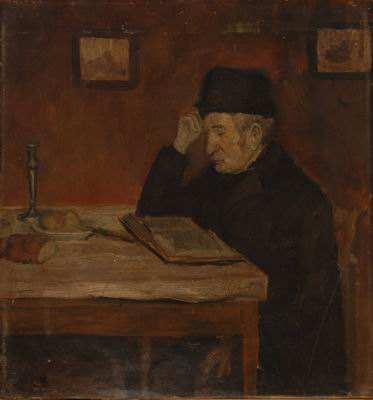Grandfather Reading at the Table