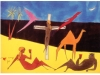 Couple, Camel, and Crucifix on a Beach