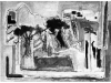 Landscape with trees in Safed - composition