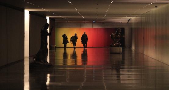 """המעבר המקורה במוזיאון ישראל. צילום © מוזיאון ישראל, ירושלים, ע""""י בני מאור."""