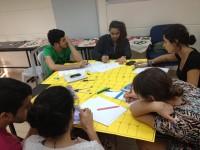 ישיבת תכנון לוח זמנים שנתי של הנהלת תכל'ס. צילום: צוות תכל'ס, בית הגפן