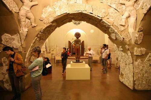 מתוך התערוכה Re:Visiting Rockfeller, תערוכת אמנות עכשווית במוזיאון רוקפלר, 2012. צילום ניר שאנני