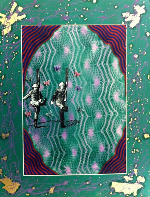 יצירה בהשראת מפיות סרוגות (מתוך פרויקט הגמר של סבינה נפתלייב). הסריגים העתיקים ביותר נמצאו בחפירות דורא-אירופוס שבצפון סוריה של היום. צילום: נטע אלקיים