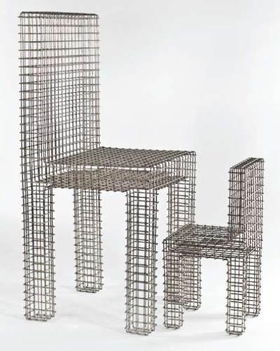 מונה חאטום, ללא כותרת, שני כסאות מרשת תיל, 1992, מוזיאון ישראל, ירושלים