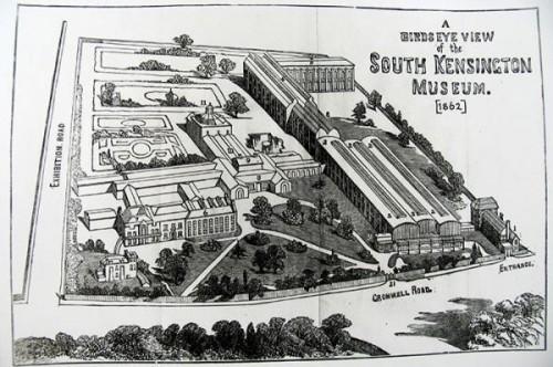 מוזיאון ויקטוריה ואלברט. מפה משנת 1862, מתוך האתר