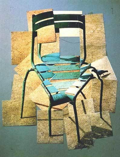 דייויד הוקני. גני לוקסמבורג, קולאז' צילום,1987