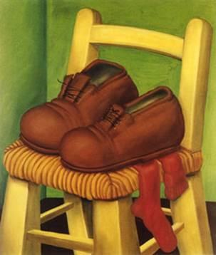 """פרננדו בוטרו, """"מחווה לוואן-גוך"""", שמן על בד, 1970"""