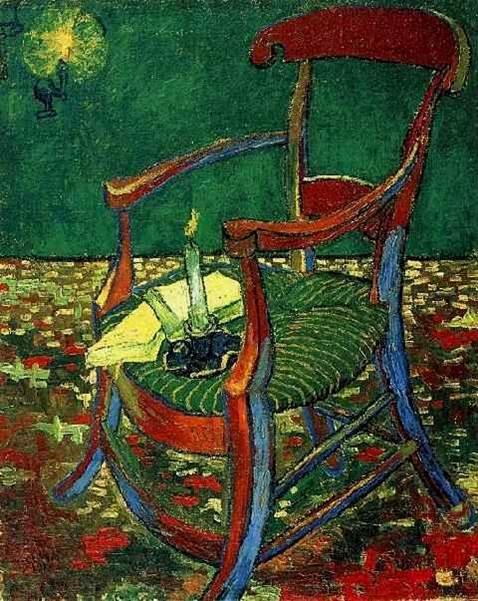 ואן גוך, הכיסא של גוגן, שמן על בד, 1888-1889