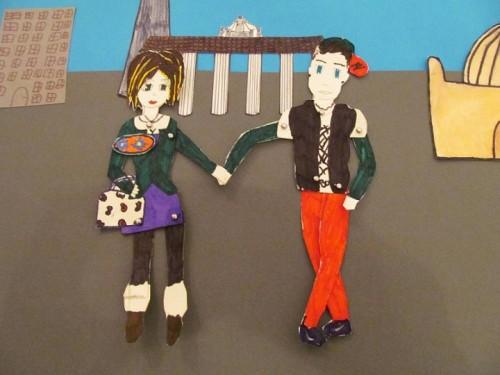עבודה מתוך תערוכה במוזיאון הנוער של שונברג