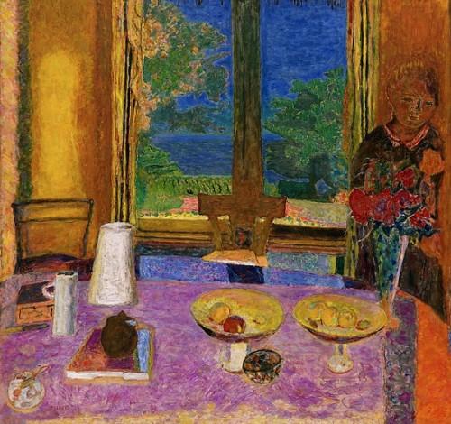 """פייר בונאר, """"חדר האוכל המשקיף לגינה"""" שמן על בד, 1934-5"""
