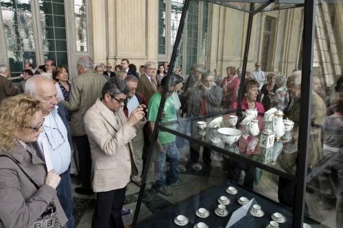 קהל במוזיאון Palazzo Madama בטורינו, איטליה. צילום: סבינה ארנה