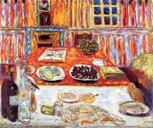 פייר בונאר, ״פנים: חדר אוכל״, שמן על בד, 1942–1946