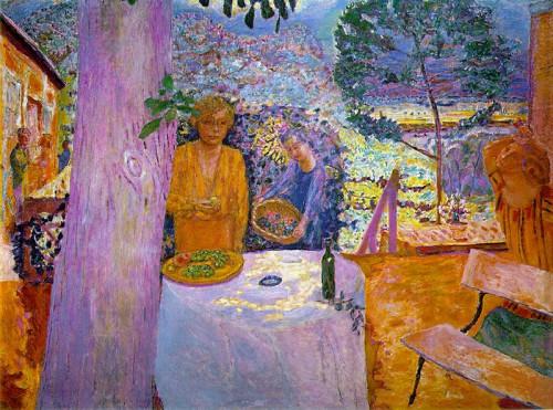 """פייר בונאר, """"המרפסת בטורנונה"""", שמן על בד, 1939"""