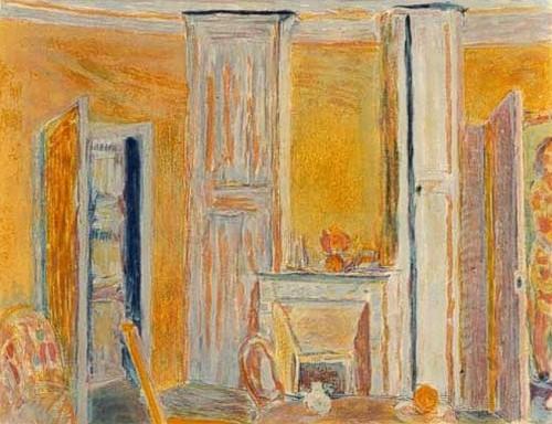 """פייר בונאר, """"הפנים הצהוב"""", שמן על בד, 1942 בקירוב"""