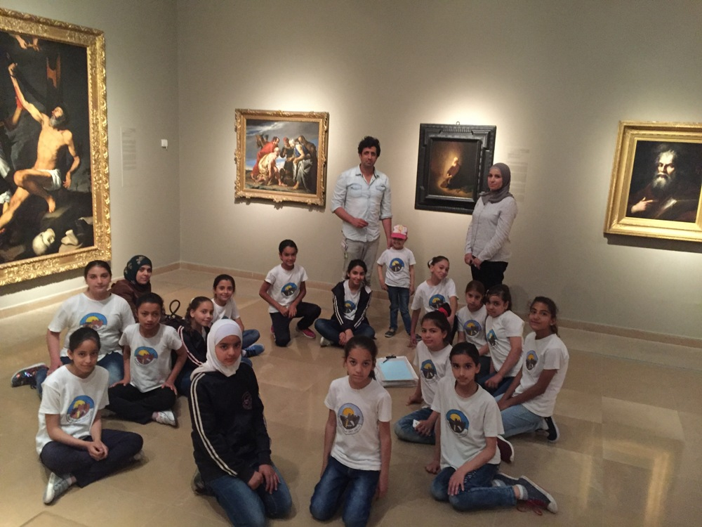 """שואלים """"רמברנדט, למה?"""" בגלריה לאמנות אירופה, מוזיאון ישראל, 2016. צילום: אחמד אלסייד"""